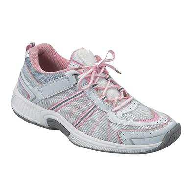 #1 Overpronation Diabetic Neuropathy Wide Width Athletic Shoes Pink Sneakers For Women with Arch Support | OrthoFeet, 6 / Extra Wide / Pink