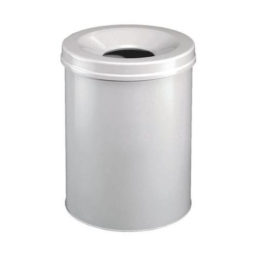 Stahl-Papierkorb 15 L grau, Durable, 26x35.7 cm