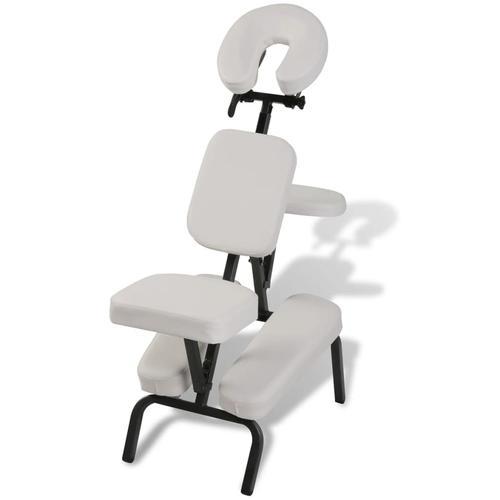 vidaXL Massagestuhl, zusammenfaltbar und portabel Weiß