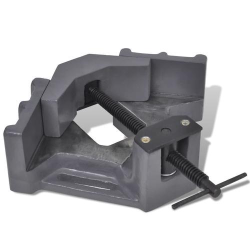 vidaXL Winkelschraubstock Handbetrieben 115 mm