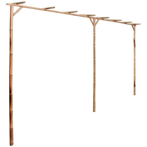 vidaXL Pergola Bambus 385 x 40 x 205 cm