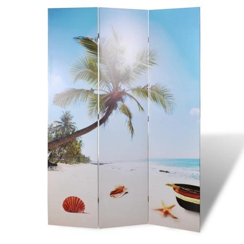 vidaXL Raumteiler klappbar 120 x 170 cm Strand
