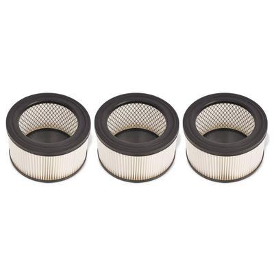 vidaXL HEPA-Filter für Aschesauger 3 Stk. Weiß und Schwarz
