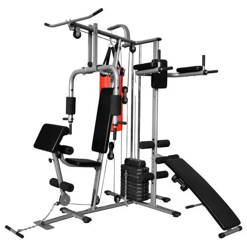 vidaXL Multifunktionaler Heimtrainer Fitnessgerät mit 1 Boxsack 65 kg