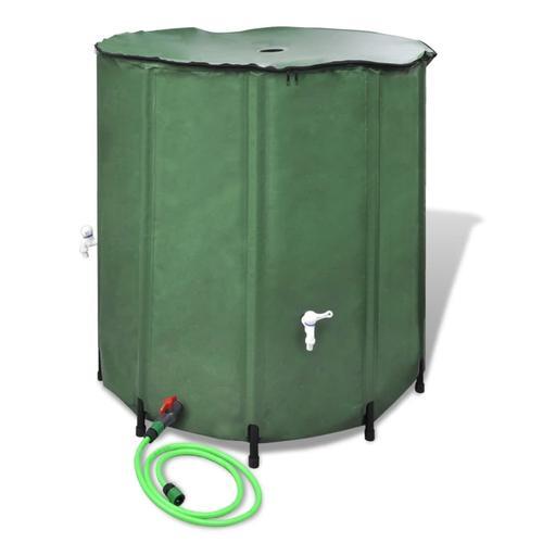 vidaXL Wasserspeicher Regentonne Wassertank 250L klappbar