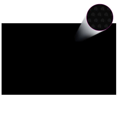 vidaXL Treibende Pool Solarfolie rechtecking 8 x 5 m Pools, schwarz