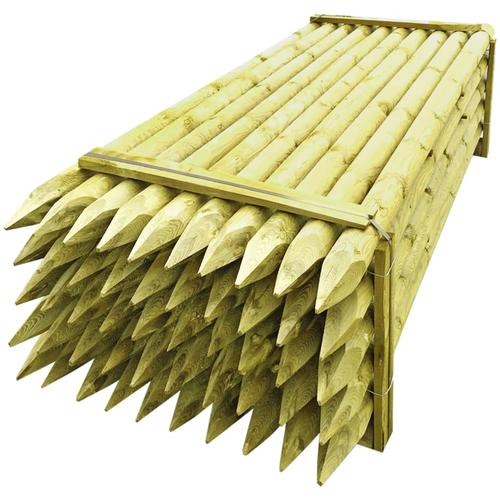 vidaXL Zaunpfähle 50 Stk. Imprägniertes Holz 10×240 cm