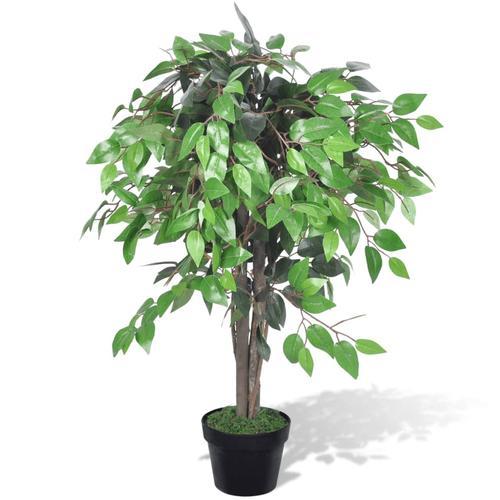 vidaXL Künstlicher Ficus mit Topf 90 cm