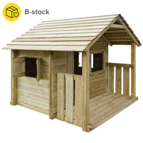 vidaXL Spielhaus mit 3 Fenstern 204 x 204 x 184 cm Holz