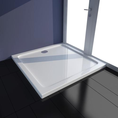 vidaXL Duschtasse ABS Quadratisch Weiß 80×80 cm