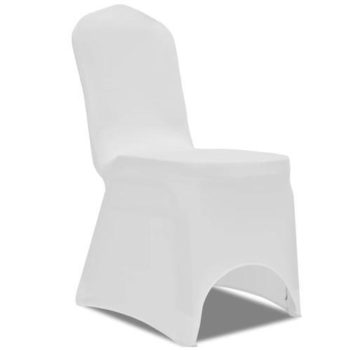 vidaXL Stretch-Stuhlhussen 100 Stk. Weiß