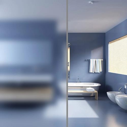 vidaXL Fensterfolie Sichtschutzfolie Milchglas Selbstklebend 0,9×10 m