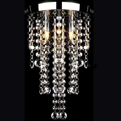 vidaXL Hängelampe edle Deckenlampe mit transparenten Kristallperlen