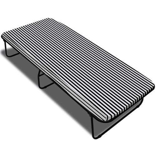 vidaXL Klappbett Schwarz Metall 190×80 cm