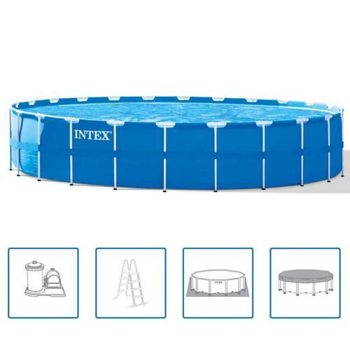 Intex Pool-Set Stahlrahmen Rund 732×132 cm 28262GN
