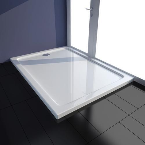 vidaXL Duschtasse ABS Rechteckig Weiß 80×110 cm