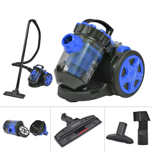 vidaXL Beutelloser Multi-Zyklon-Staubsauger Fußboden Teppich Blau