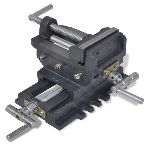 vidaXL Maschinenschraubstock Kreuztisch Handbetrieb 78 mm