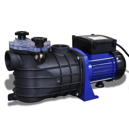 vidaXL Schwimmbadpumpe Umwälzpumpe Poolpumpe Pumpe elektronik blau 500W