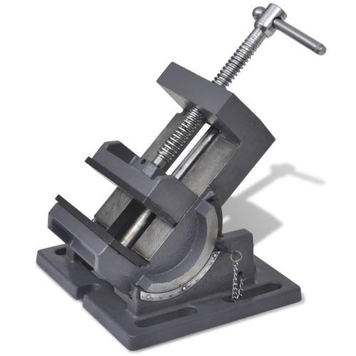 vidaXL Maschinenschraubstock Kippbar Handbetrieben 110 mm