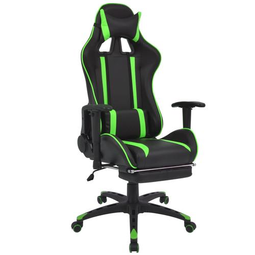 vidaXL Neigbarer Racing-Bürostuhl mit Fußstütze Grün