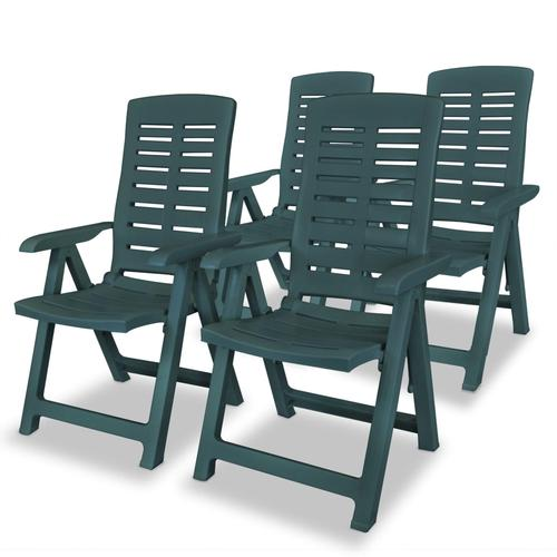 vidaXL Garten-Liegestühle 4 Stk. Kunststoff Grün