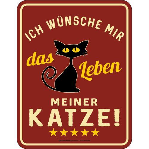 Rahmenlos Blechschild für den Katzenliebhaber mit witzigem Spruch bunt Geschenkideen Wohnaccessoires Geschenkartikel