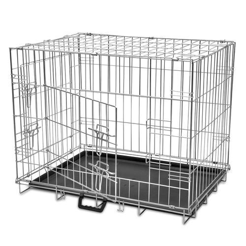 vidaXL Faltbare Hundebox Metall L