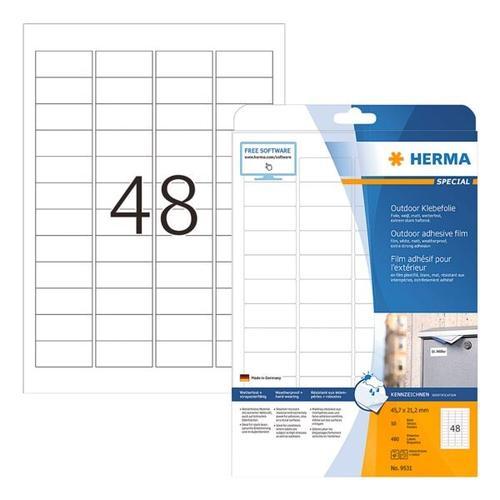 Outdoor Folien-Etiketten »9531« weiß, Herma