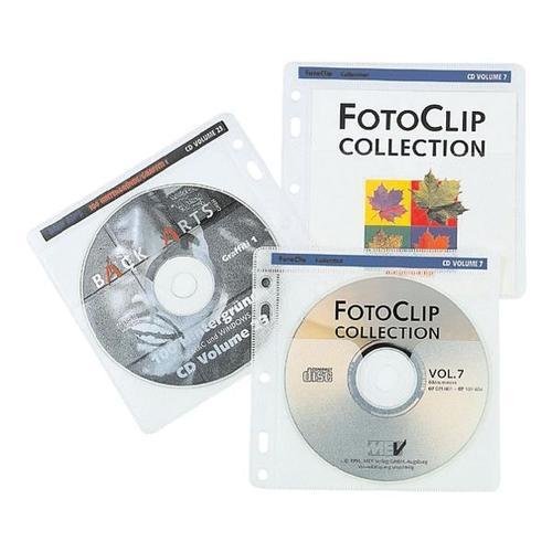 CD/DVD/Blu-ray-Doppelhüllen »Pockets« transparent, Hama, 14.5x14 cm