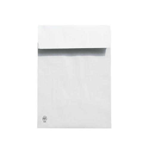 Polsterfaltentaschen C4, mit Spitzboden weiß, Steinmetz, 22.9x32.4 cm