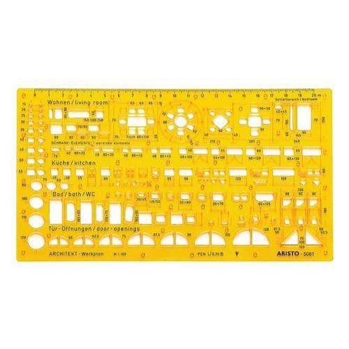 Schablone Architektur-Kombi »AR5061« gelb, Aristo, 0.12 cm