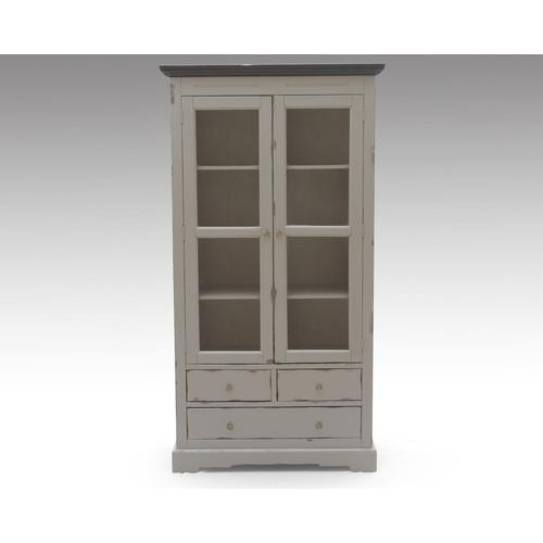 SIT SPA antik used look Akazie massiv Vitrine 9704-97