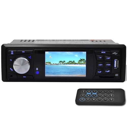 vidaXL Multimedia Autoradio Monitor 1 DIN FM Radio