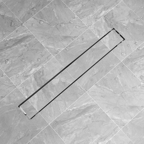 vidaXL Duschablauf Linear 830x140 mm Edelstahl