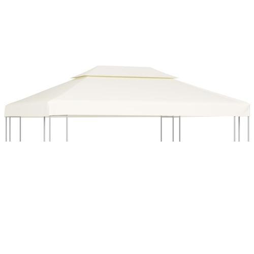 vidaXL Pavillon-Dachplane Ersatzdach 310 g/m² Cremeweiß 3×4 m