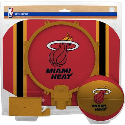 """Rawlings Red Miami Heat Softee Hoop & Ball Set"""