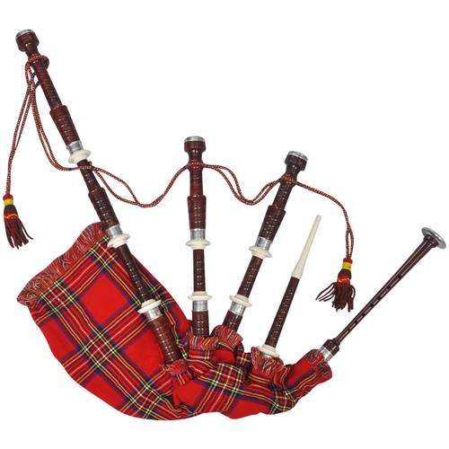 vidaXL Schottischer Great Highland Dudelsack Red Royal Steward Tartan