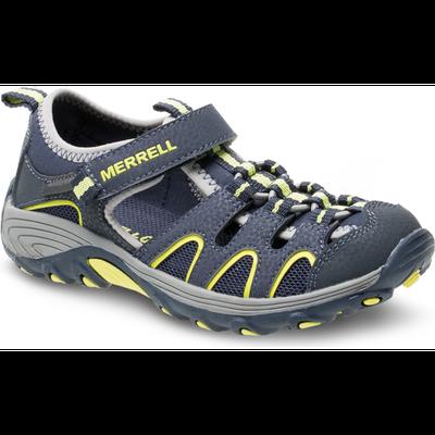 Merrell Kid's Hydro H2O Hiker Sandal, Size: 9, Navy/Lime