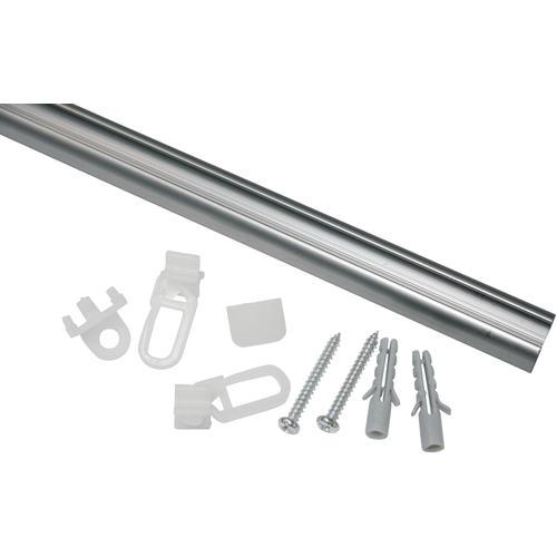 GARDINIA Gardinenschiene Aluminiumschiene, 1 läufig-läufig, kürzbar, Serie Aluminiumschiene Ø 13 mm grau Gardinenschienen Gardinen Vorhänge