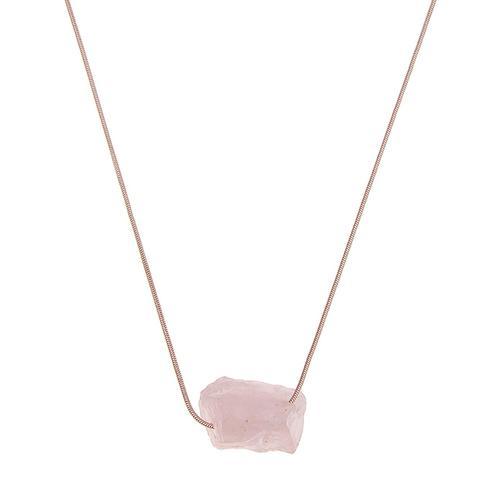 leslii Halskette mit Stein-Anhänger rosa Damen Lange Ketten Halsketten Schmuck Modeschmuck (nicht Echtschmuck)