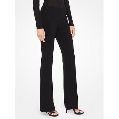 Michael Kors Stretch-Crepe Flared Pants Black 12