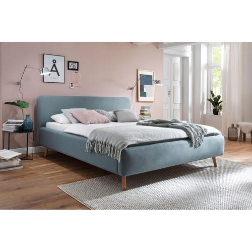 meise.möbel Polsterbett, Skandinavien Landhausstil blau Doppelbetten Betten Polsterbett