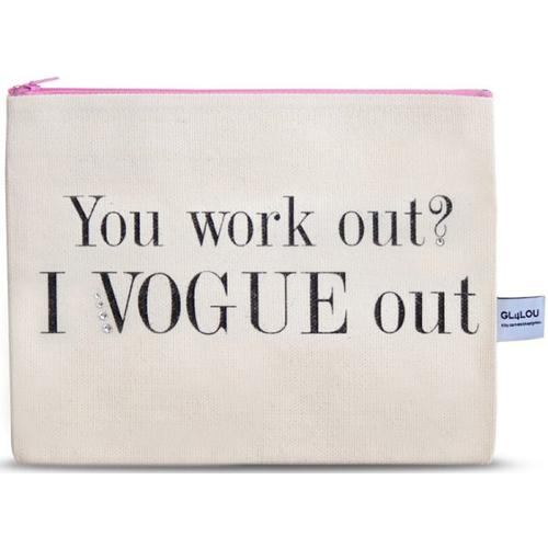 4LOU Vanity Bag Vogue out - 100% Canvas Swarovski Applikationen Kosmetiktasche