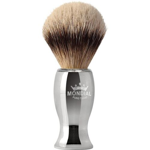 Mondial Exclusive Rasierpinsel Silvertip Badger Metal