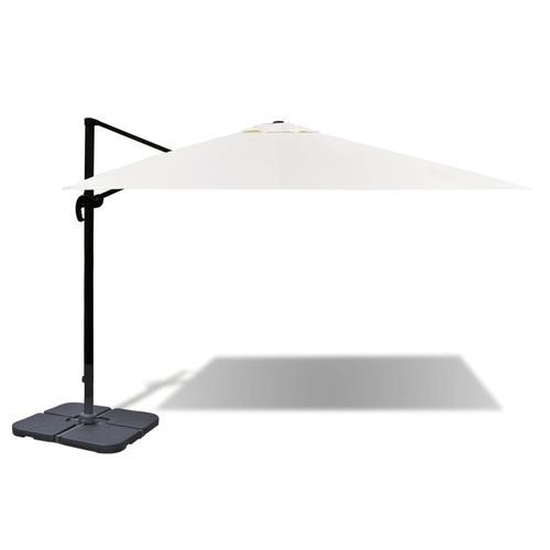 vidaXL Roma Sonnenschirm aus Aluminium mit tragbarer Basis 3 x 4 m