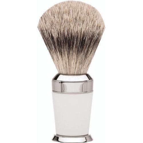 Erbe Shaving Shop Premium Design PARIS Rasierpinsel Silberspitz Edelharz weiß