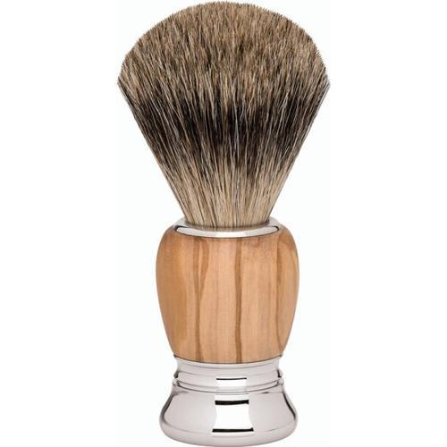 Erbe Shaving Shop Premium Design MILANO Rasierpinsel Dachshaar Olivenholz