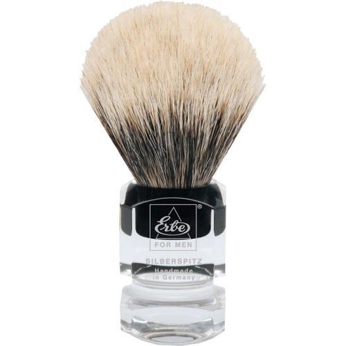 Erbe Shaving Shop Rasierpinsel groß Silberspitz, Plastikgriff eckig