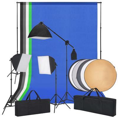 vidaXL Fotostudio-Set mit Softbo...
